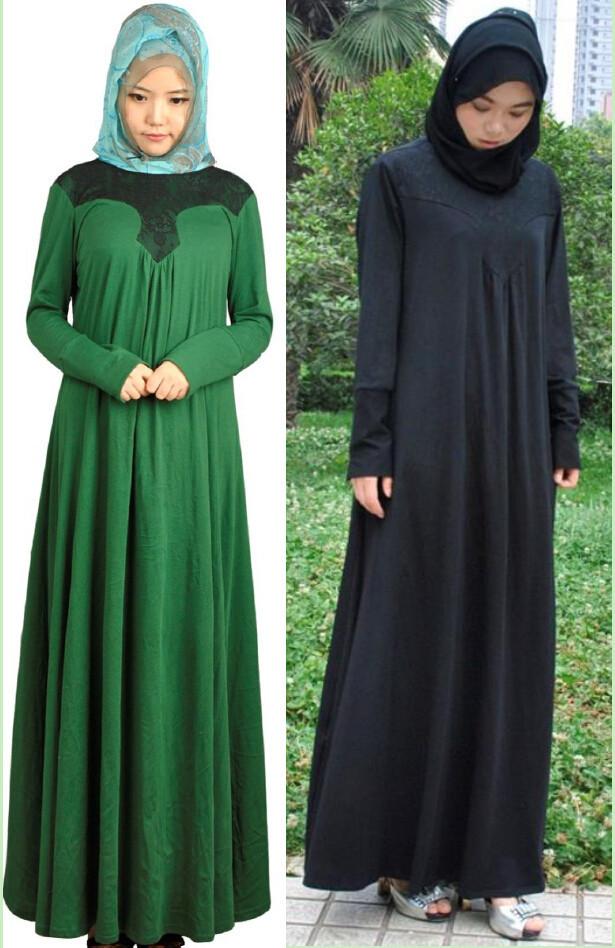 Мусульманский Платья Широкий Хиджабы