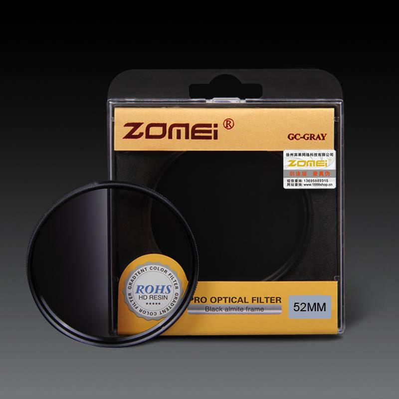 Original Zomei 52mm Pro Optical GND Filter Gray Graduated Neutral Density GC Filter for Canon Nikon DSLR 52 mm Camera lens(China (Mainland))