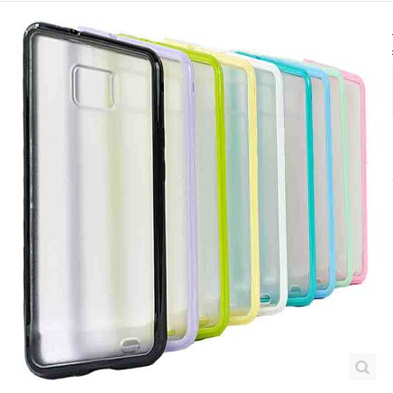 New Matte PC Clear Back Skin TPU Frame Case Protective Cover For Samsung Galaxy S2 II i9100 i9105+Free/Drop Shipping(China (Mainland))