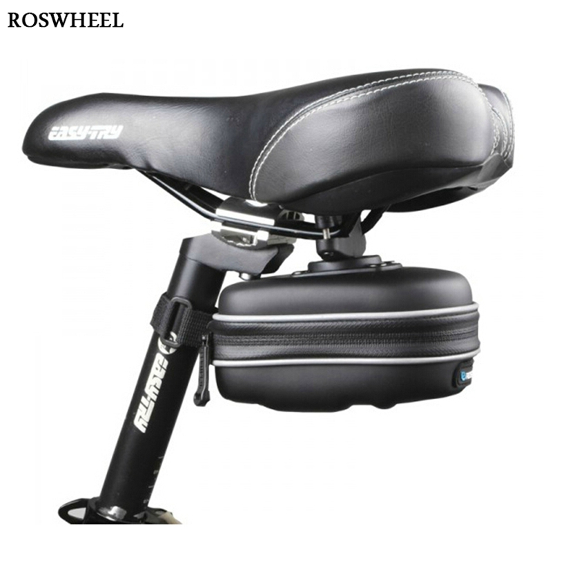 New Roswheel Sports Bag Fashion Cycling Bike Bicycle Seat Saddle Rear EVA Bag Waterproof Quick Release(China (Mainland))