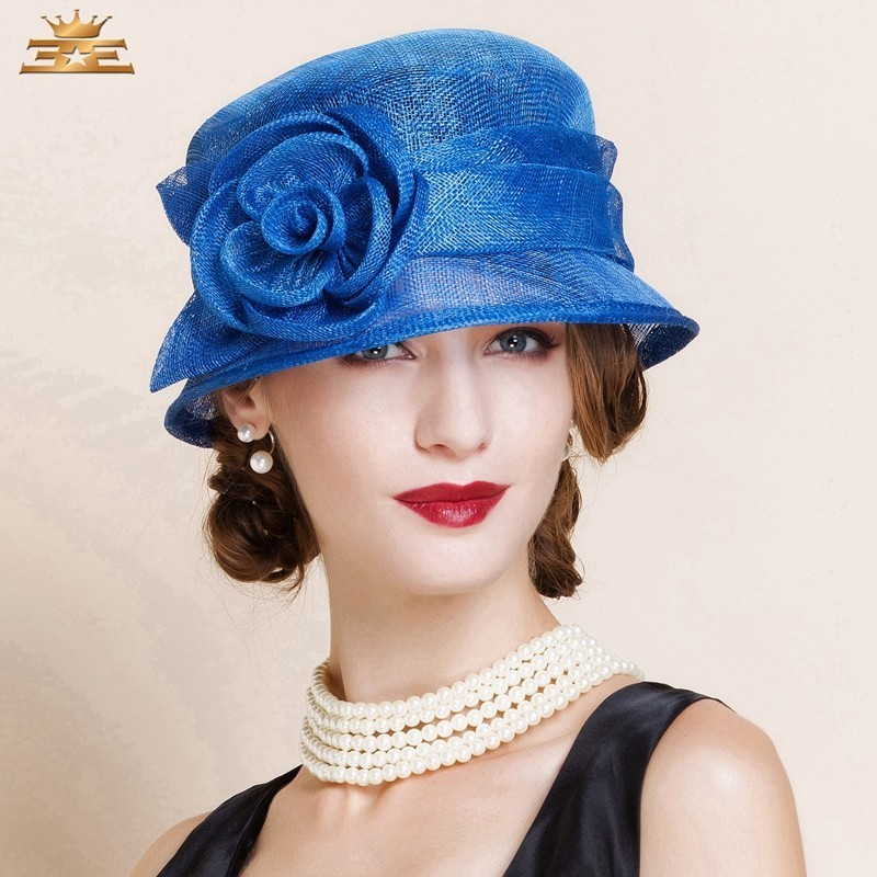 Wholesale Fashion New Sinamay Hats for Women Summer Outdoor Church Party Wedding Banquet Horse RacingОдежда и ак�е��уары<br><br><br>Aliexpress