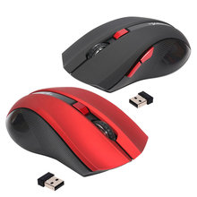 USB Wireless Mouse 6 Buttons 2.4G Optical Mouse Adjustable 2400DPI Wireless Gaming Mouse Gamer Mouse PC Mice for Computer Laptop