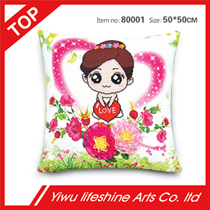 DIY Cross Stitch Love Series Cushion For Wedding Gifts Home Decoration A Beautiful Bride Image