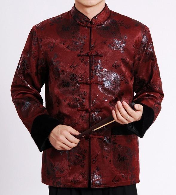 Здесь можно купить  High Quality Burgundy Chinese Men