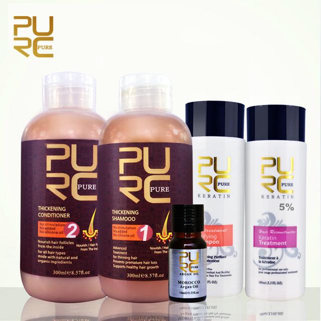 Purc бразильский кератин выпрямления волос лечение 5% формалина кератина комплект ...