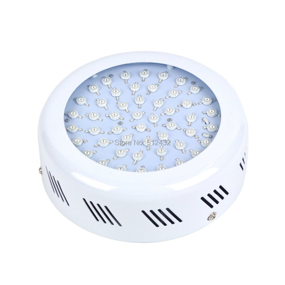 WU-50 White UFO 4 Bands 50*1W 50 Watts LED Grow Light for Indoor Plant Growing, Red + Blue + Yellow + Orange Light(China (Mainland))