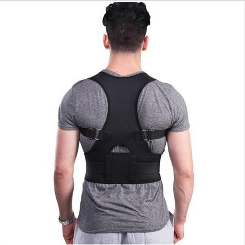2016Newest Breathable Back Support For Men Professional Back Shoulder Posture Corrector Orthopedic Exercise Back Protection Belt(China (Mainland))