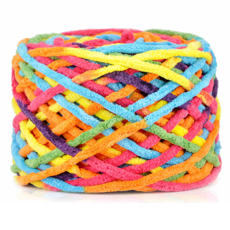 100g/pc Cotton Colorful Dye Scarf Hand knitted Yarn For Hand knitting ...