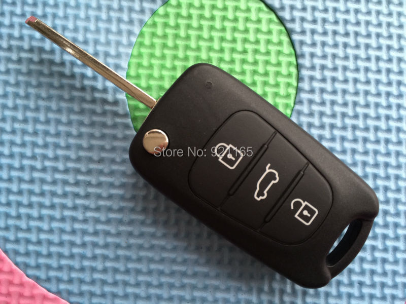 Fits to Replacement KIA SOUL 3 Button Remote key FOB shell case + blank blade(China (Mainland))