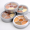 4 pcs Lot 6 Colors Round Make Up Concealer Palette Foundation Primer Invisible Pore Wrinkle Cover