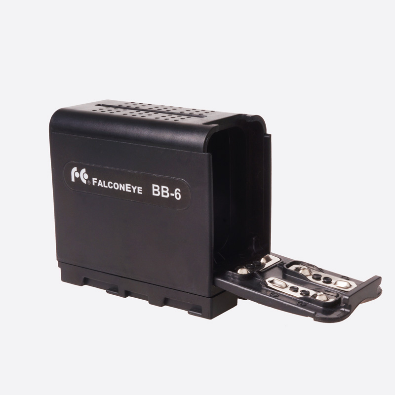 FALCON EYES BB-6 6pcs AA Battery Pack Power Work like NP-F970 for LED VIDEO LIGHT Panels or Monitor YN300 II DV-160V BB 6<br><br>Aliexpress