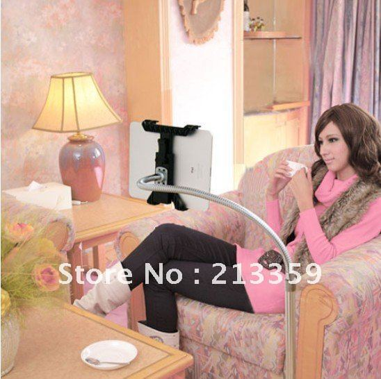 Free Shipping for 360 degree Rotatable Aluminum Floor Holder Stand Cradle for Tablet PC Apple iPad 2 3