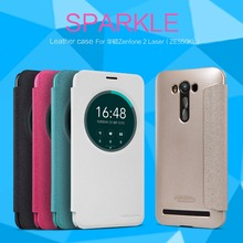 NILLKIN Sparkle flip cover luxury leather case for Asus Zenfone 2 Laser(ZE550KL 5.5 inch) with Retailed Package(China (Mainland))