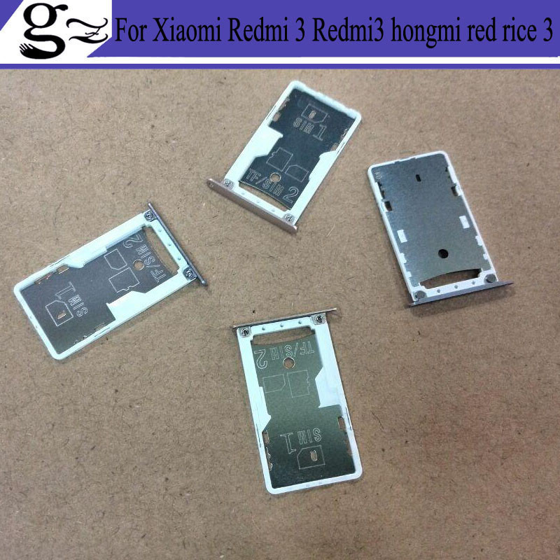 High quality For Xiaomi Redmi 3 Redmi3 hongmi red rice 3 Nano Sim+Micro SD Card Tray Holder Slot Socket Replacement Parts