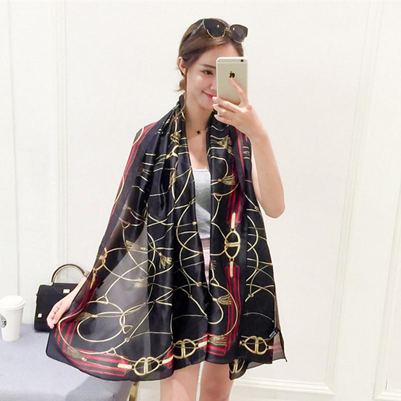Women Silk Scarves Beach Shawl and Echarpe Luxurious Wrap of New Designer Plus Size SC2861(China (Mainland))