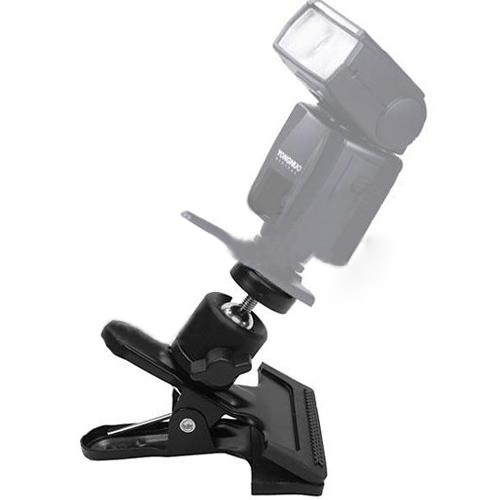 Affordable Metal Spring Clamp Clip w/ Ball Head for Camera Flash Photograph(China (Mainland))
