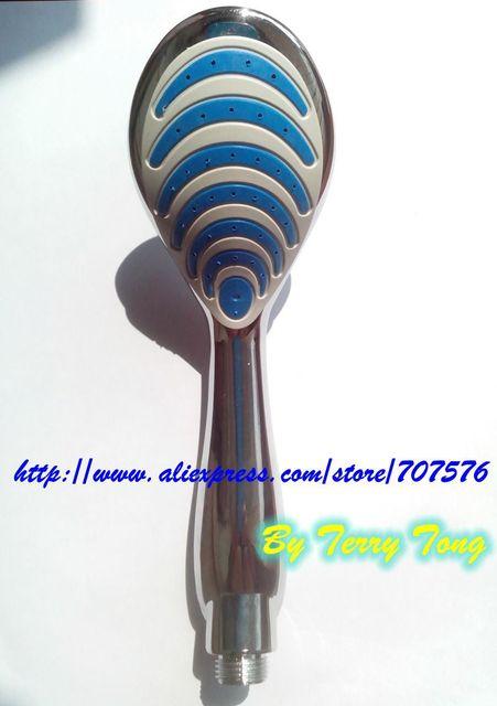 Free Shipping Bathroom  Plastic Handheld Chrome Shower Sprayer Head Bathing Washing Tongue Shower Nozzle Advanced sanitary ware