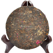 Rose flavor Pu er Tea cake shu puer tea cake Ripe Puer Free Shipping