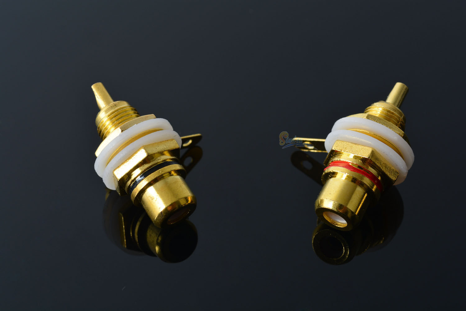 2pcs RCA Panel Mount connector RCA Female Socket rca Panel Mount Audio Socket Plug connector Bulkhead