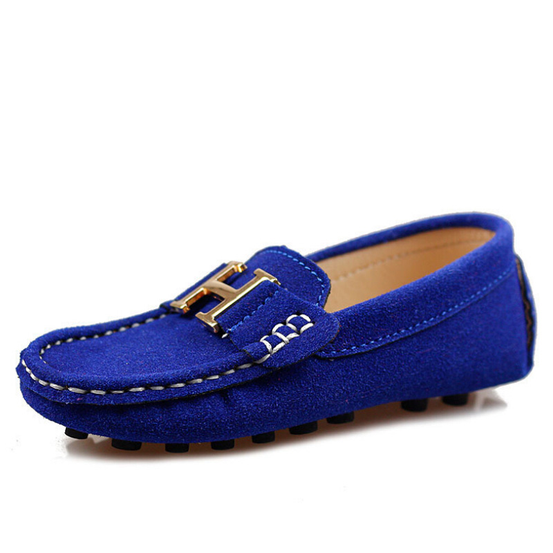 2015 children leather casual shoes fashion moccasins boat