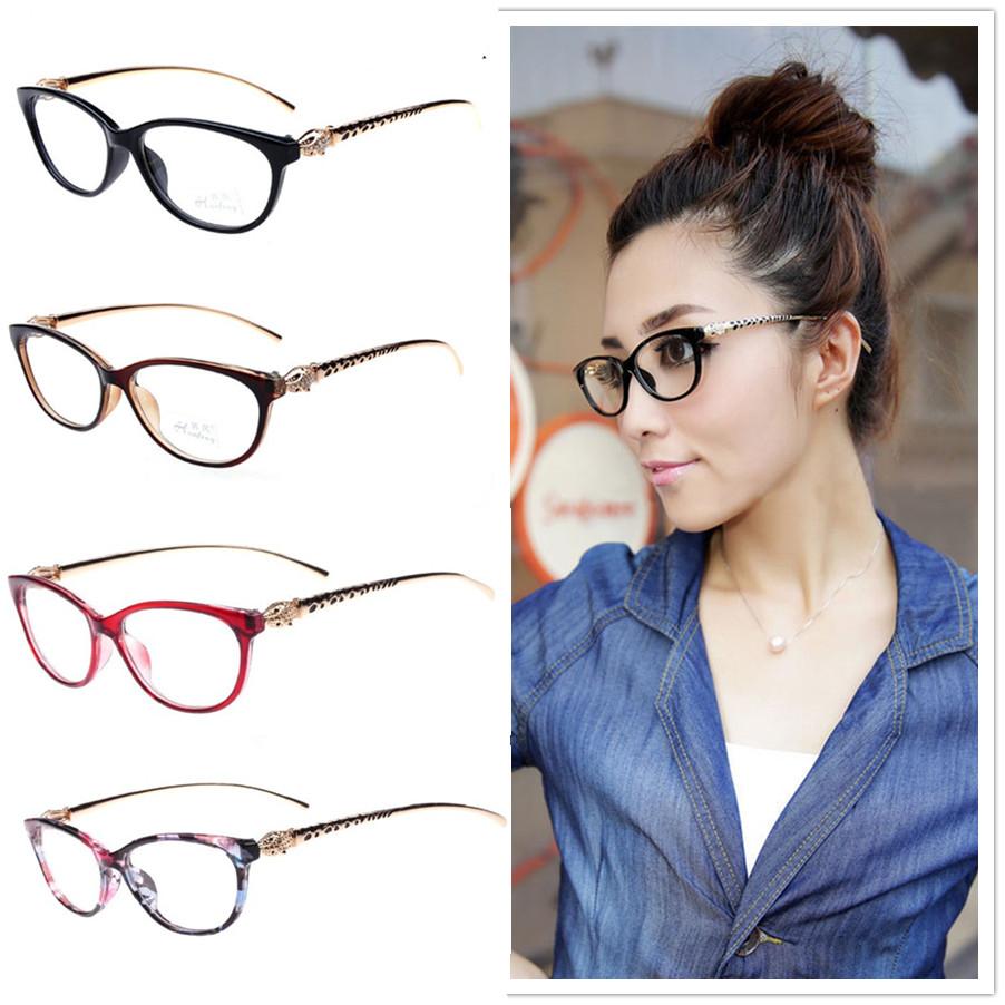 8 Colors 2016 Fashion Cheetah Earstems Glasses frames ...