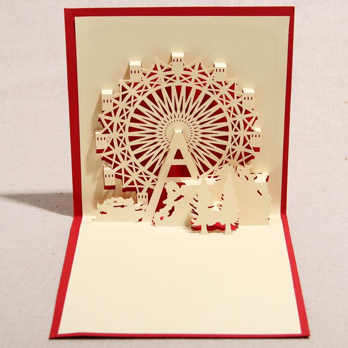 Ferris Wheel Card Cards Ferris Wheel Pattern