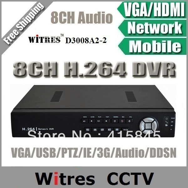 H.264 8CH Video/8CH Audio CCTV Super DVR Recorder,PTZ watch,Alarm,Mouse,VGA,HDMI,Video Recorder