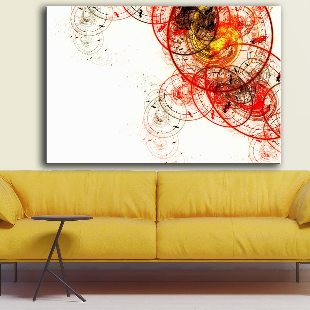 Online Get Cheap White and Yellow Wall Art Canvas -Aliexpress.com ...