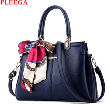 PLEEGA New 2017 Lady Scarves Handbag Brand Designers PU Leather Shoulder Bag Women Blue Messenger Bag Female Clutch Big Tote Bag(China (Mainland))