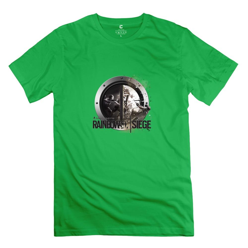 2015 Fashion t shirts 3D rainbow six siege o-collar Men music t shirt for girlfriend(China (Mainland))