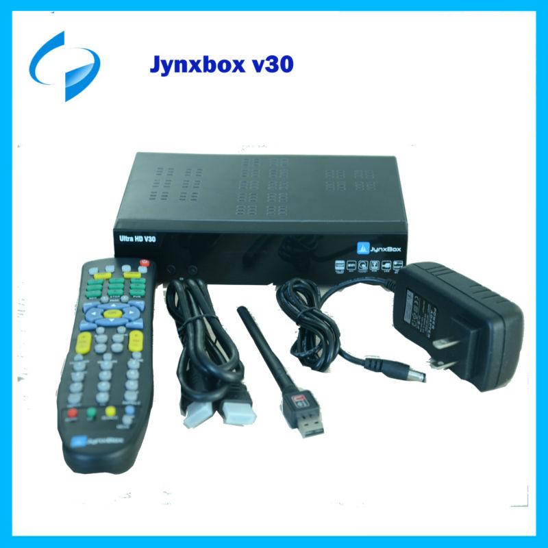 1 pcs PCS JynxBox V30 Full HD Digital Satellite Receiver Twin Tuner JB200 ATSC Module IKS North America IPTV(China (Mainland))