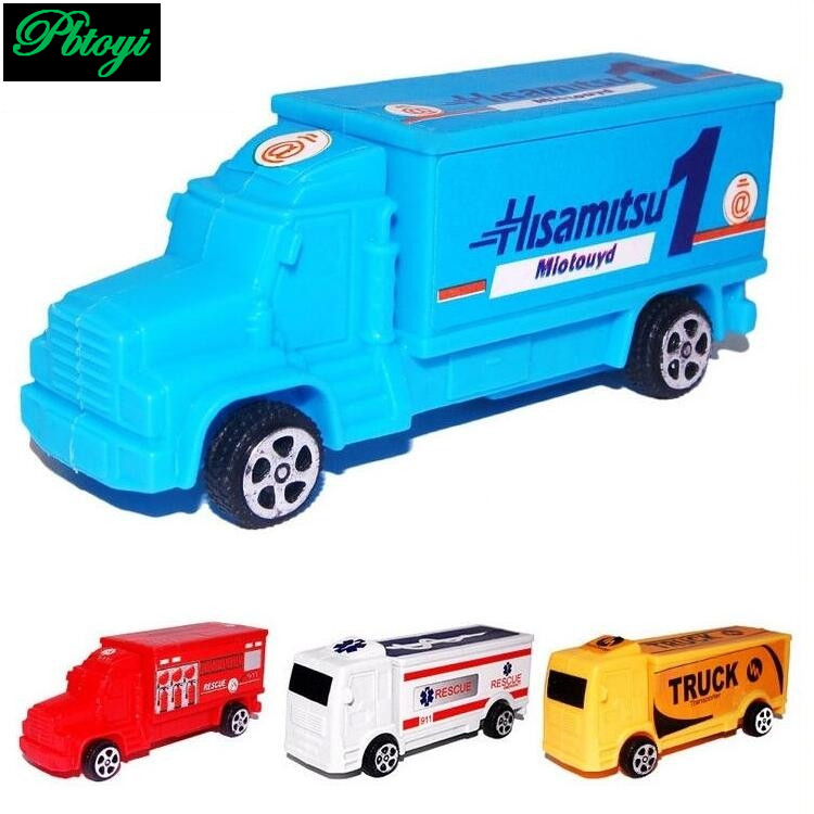 Hauler truck container truck children toys molded plastic model toys cars 3 wholesale 20g PI0730(China (Mainland))