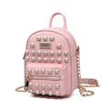 Edgy Rivet studded Small Bag 2016 Fashion New Trendy Shoulder Bag Litchi Stria High Quality PU