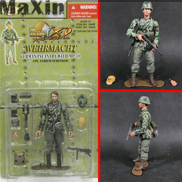Гаджет  21st Century Children Toys 1:18 American Soldier Model D-DAY 1919A4 Machine Gunner German Soldier Wehrmacht Action Figure Toys None Игрушки и Хобби