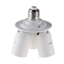 Free Shipping 3 in1 E27 Base Socket Splitter Light Lamp Bulb Adapter Holder for Softbox(China (Mainland))