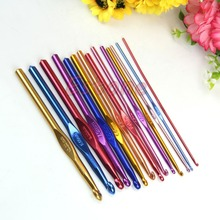 Buy 14PCS Multicolour Aluminum Crochet Hooks Knitting Needles Craft Yarn Knit 2-10mm for $3.96 in AliExpress store