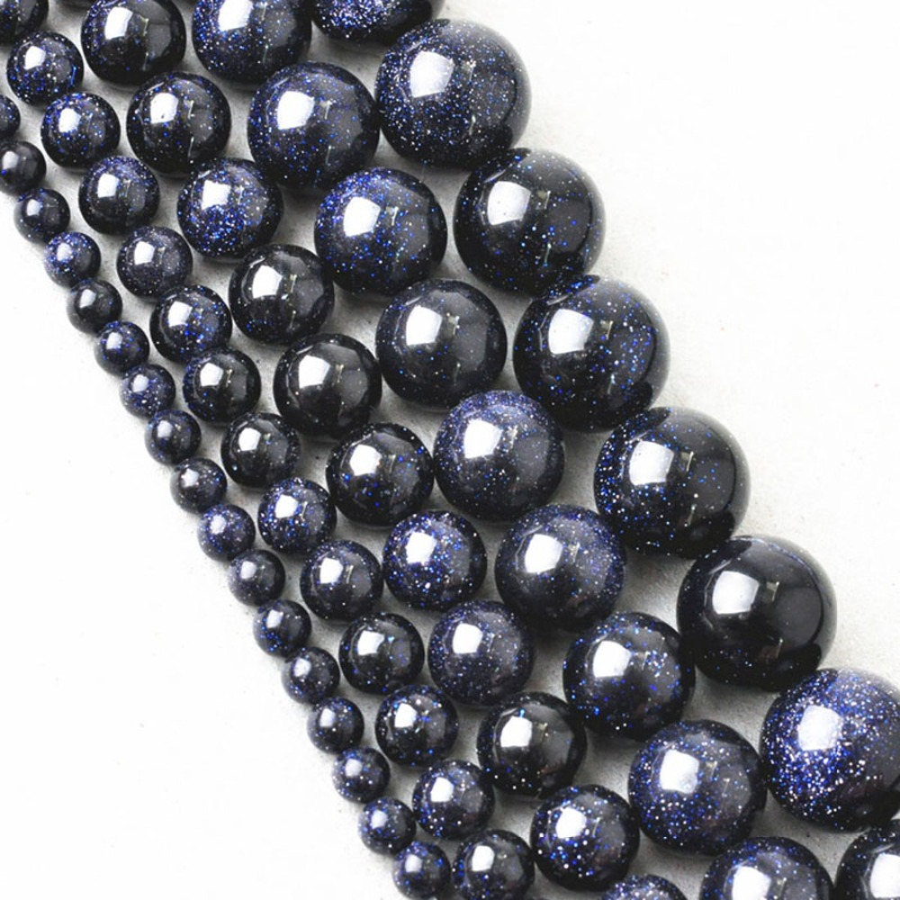 Natural Stone Beads : New high quality aaa dark blue crystal natural stone beads