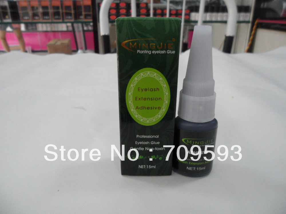 MINGJIE M-916,Free Shipping! low smell New 15ml planting eyelashes glue eyelashes extension Adhesive (10pec/lot)(China (Mainland))