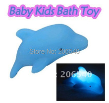 top selling brand new free shipping Baby Kids Bath Toy LED Flashing Dolphin Light Lamp(China (Mainland))