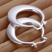 925 silver earrings 925 sterling silver fashion jewelry earrings beautiful earrings high quality Crescent Moon Earrings(China (Mainland))
