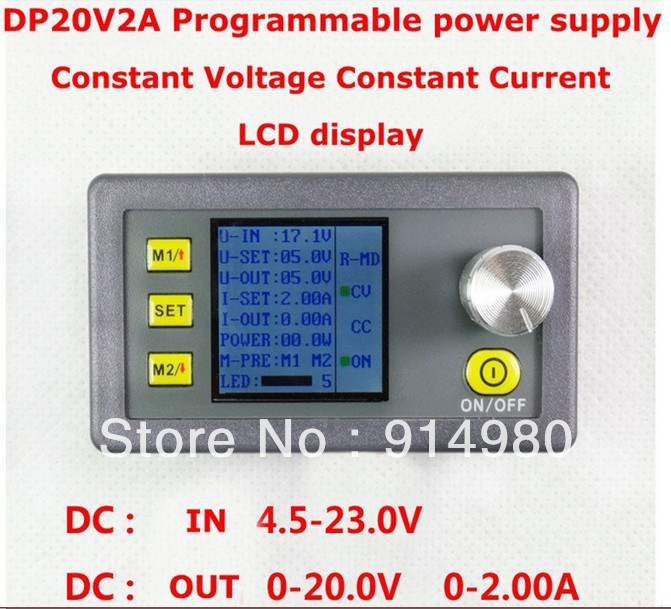 New DP20V2A Constant Voltage Constant Current Programmable Control  Step-down Supply Power Module<br><br>Aliexpress