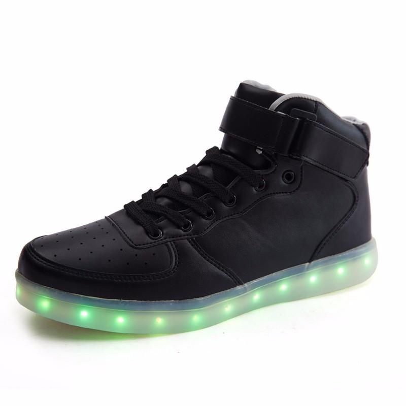 Mr.Niscar Adult Coulpe LED Colorful Luminous Glow Shoes Men Dance LED Light Boots Women Colorful USB Rechargeable Glowing Shoes