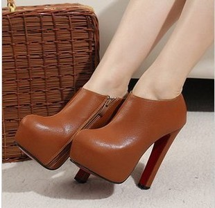 new arrive pumps Black cashmere leather womens shoes ultra-high-heeled shoes woman 2013 red sole free shipping