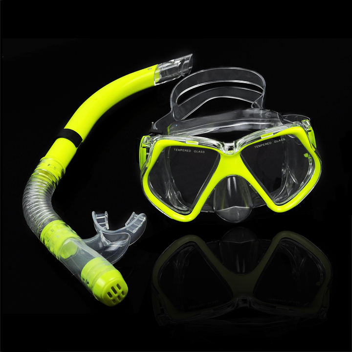 New fluorescence yellow scuba diving equipment dive mask - Discount dive gear ...