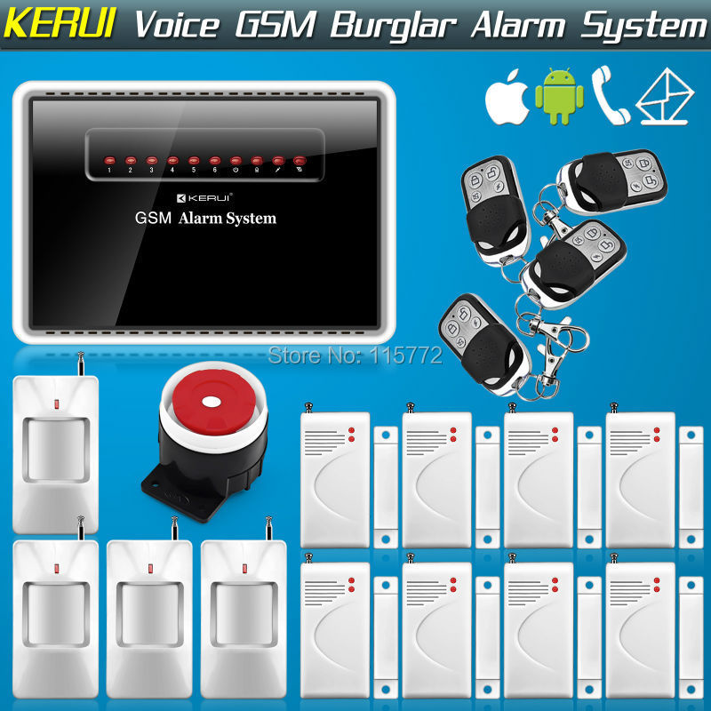 Free Shipping! 850/900/1800/1900mhz Quad Band Wireless Wired Home GSM SMS Auto Dialer Burglar Security Alarm System<br>