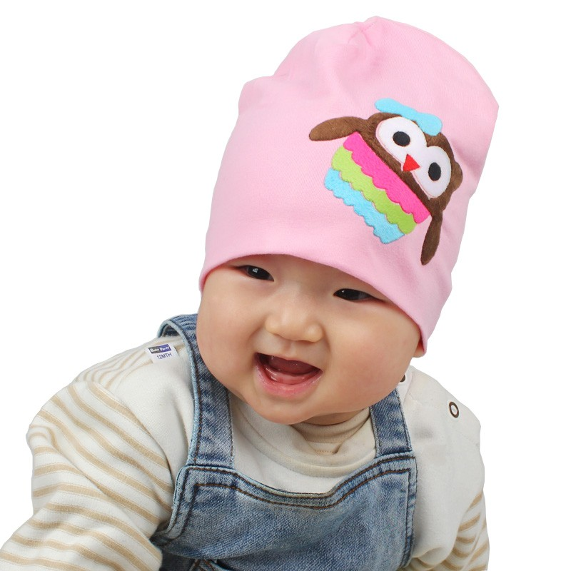Super Hot Lovely Owl Pattern Baby Cotton Beanies Toddler Infant Autumn & Winter Knitted Cap Newborn Hats(China (Mainland))