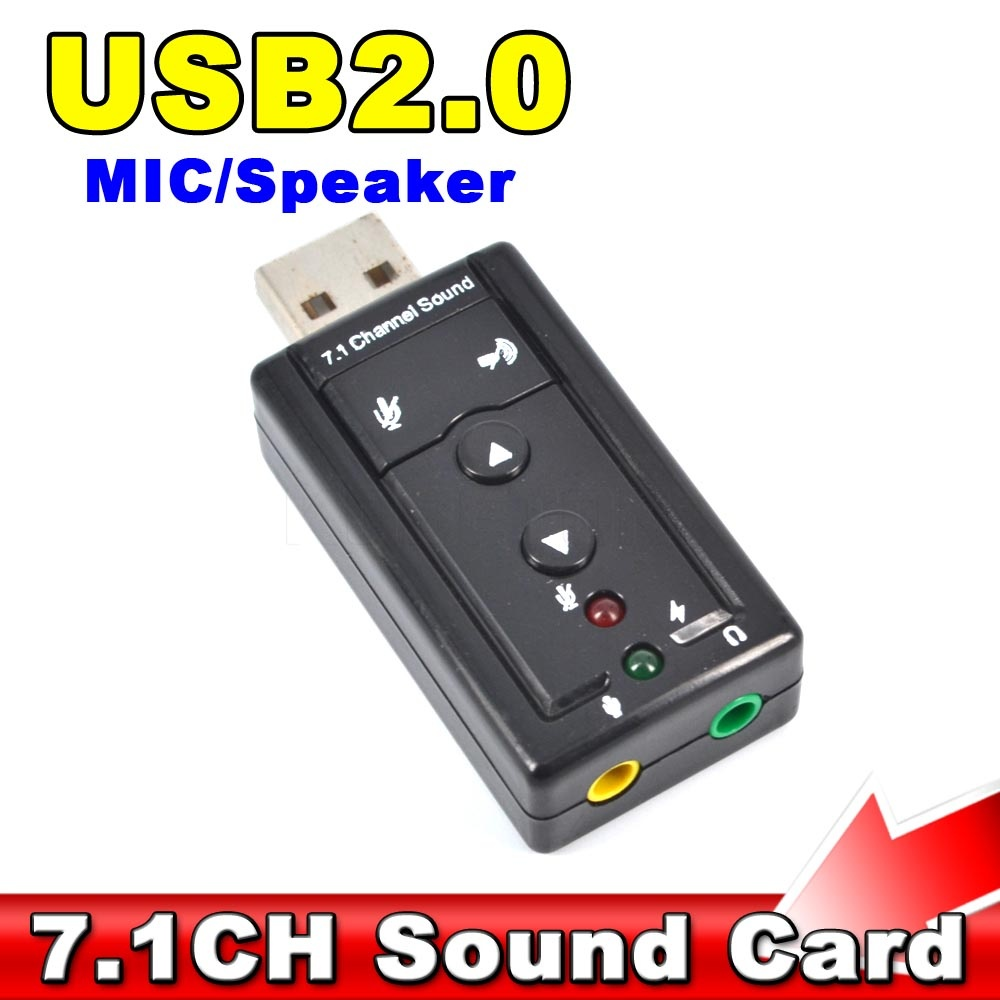 Mini 7.1 CH Channel USB Sound Card Mic Speaker 3D External Sound Cards Adapter for Desktop Notebook(China (Mainland))