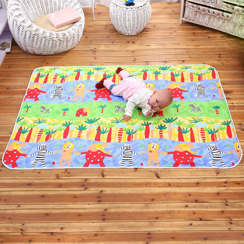 158*110cm 3 Layers Baby Reusable Matelas Infant Cover Bedding Nappy Burp Mattress Waterproof Diapering Urine Changing Pads(China (Mainland))