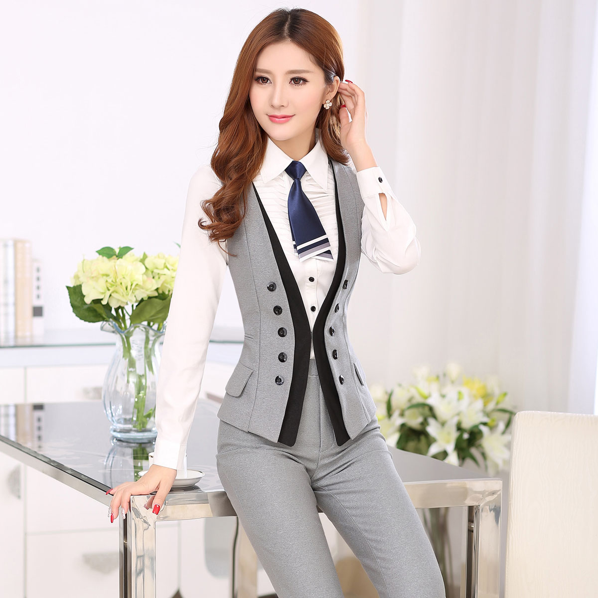 Fantastic Brown Womens Suit Jacket Dress Yy