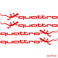 Buy 10 Sets Customization gecko quattro Handdoor Stickers Car Styling AUDI a4 b6 a3 a6 c5 q5 q7 a5 car accessories for $18.99 in AliExpress store